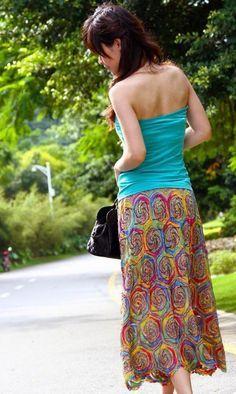 платья, юбки, туники крючком | Записи в рубрике платья, юбки, туники крючком…