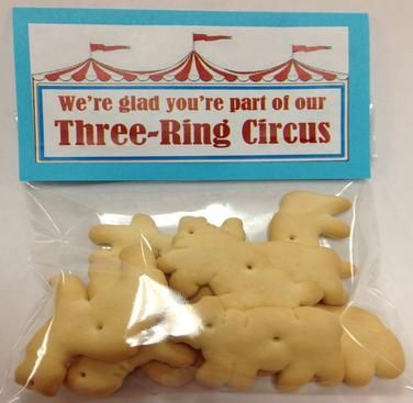 Lots of Teacher appreciation gifts. We're glad you're part of our three-ring circus. Free printable and customizable templates.