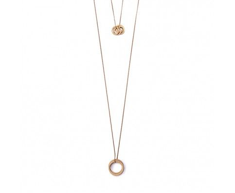 Double Rings Necklaces - Bronze - Jewellery