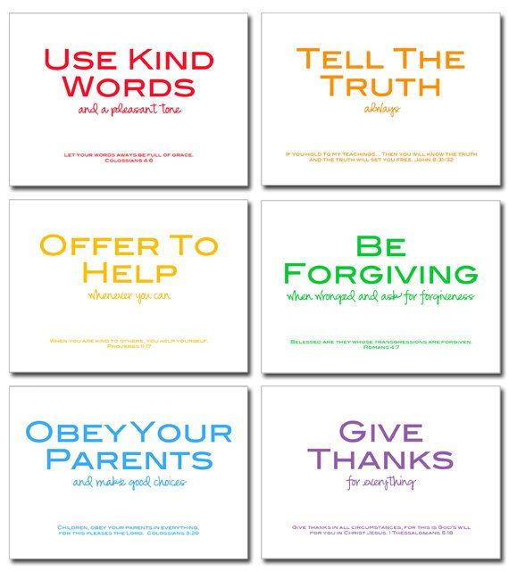 family rules printable w/ Bible verses. via Etsy.