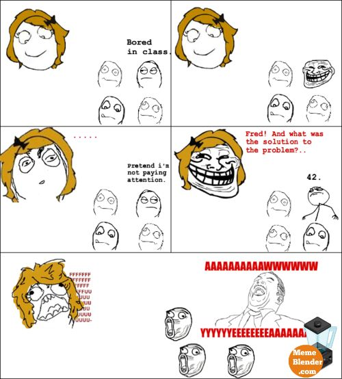 Troll Face Meme – Baiting the troll