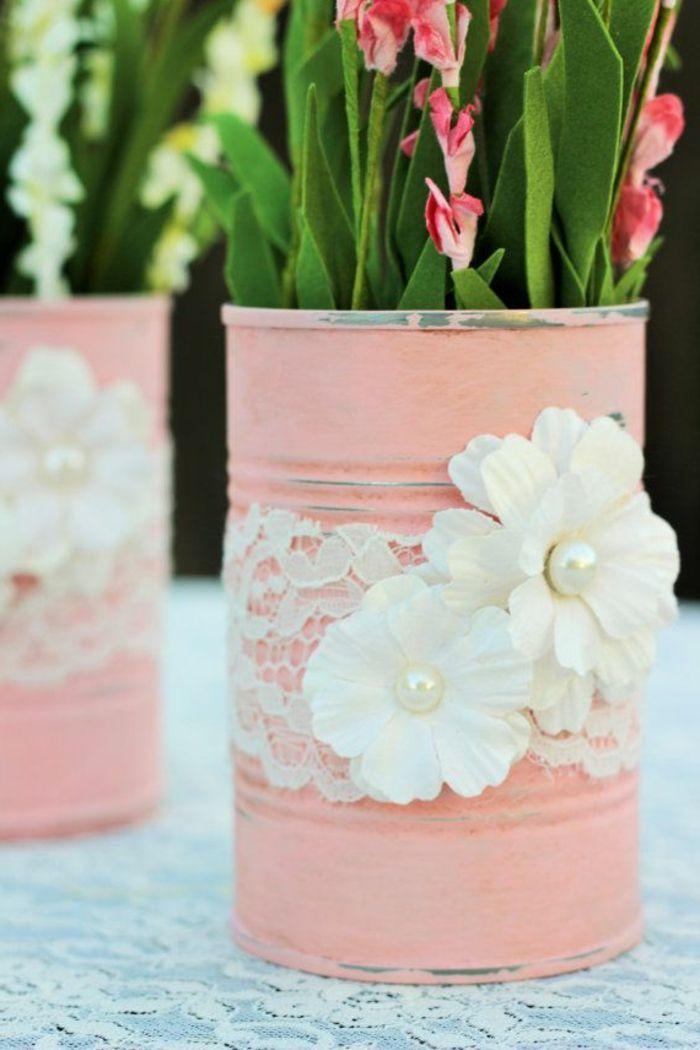 Faire Un Diy Pot De Fleur A Partir Une Boite De Conserve Repeinte En