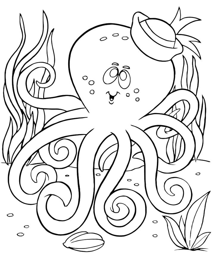 henry the ocotopus coloring pages - photo#31