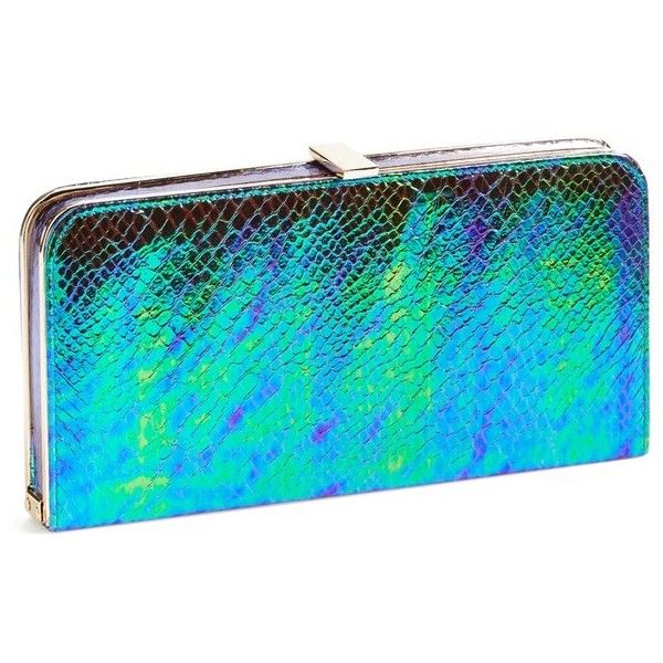 Women's Dune London 'Boom' Clutch ($83) ❤ liked on Polyvore featuring bags, handbags, clutches, purses, hand bags, blue purse, blue handbags, dune handbags and dune purse