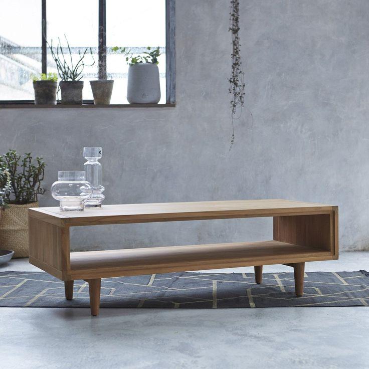 Table basse en teck 120x50 Jonàk