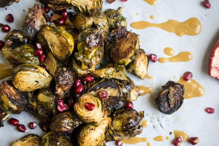 Dijon Pomegranate Roasted Brussel Sprouts (Paleo + Keto Thanksgiving Menu) • The Castaway Kitchen