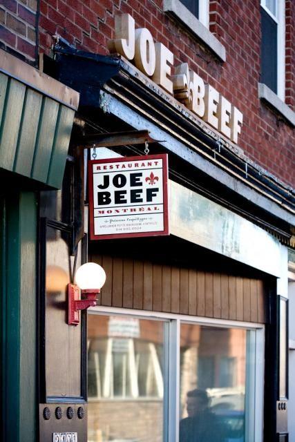 Joe Beef, Montreal.