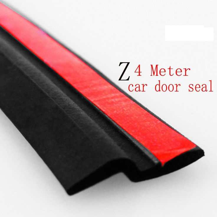 4M Z Type Rubber Seal Adhesive Sound Insulation Car Door Sealing Strip Weatherstrip Seals Waterproof Trim Auto Accessories