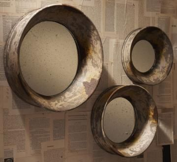 LOVE These Mirrors AND The Idea Of Decoupaging The Back Wall Of The