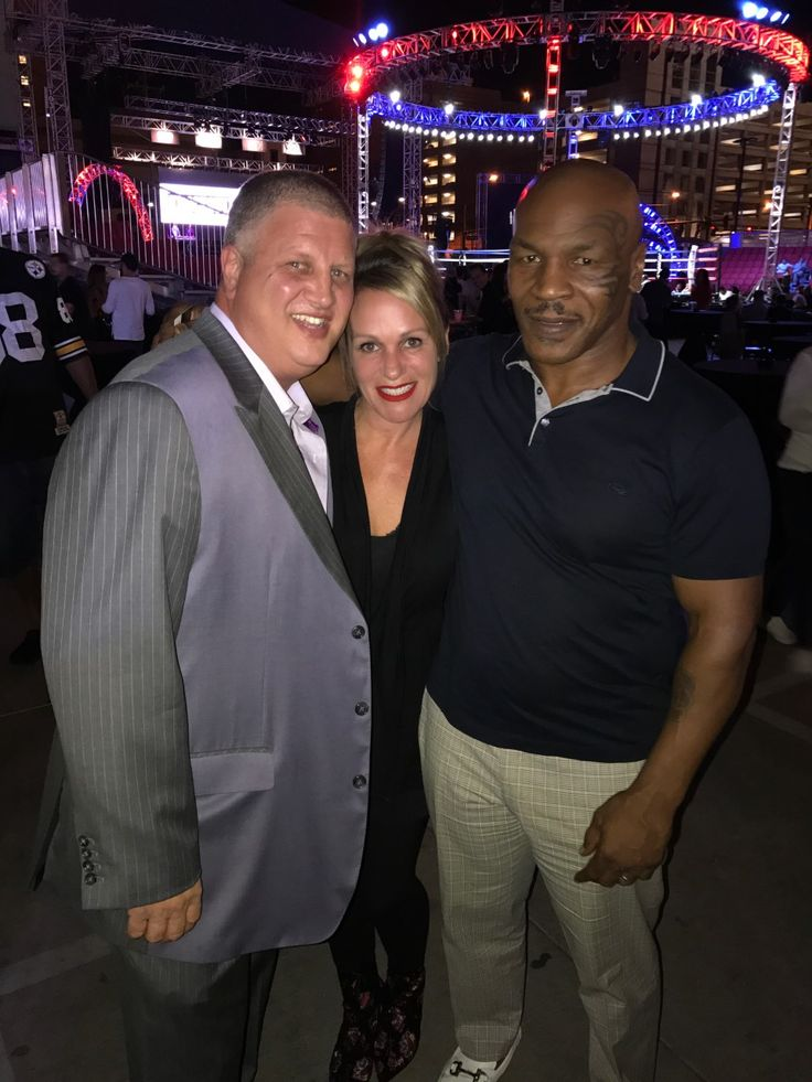 Iconic boxer, Mike Tyson, with D Casino Hotel Las Vegas owner, Derek Stevens and wife, Nicole!
