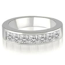 Image result for 7 stone channel set princess cut diamond  band