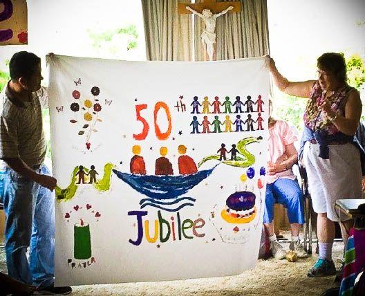 L'Arche in Tasmania, Australia, celebrating L'Arche's 50th Jubilee...