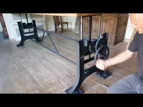 In hoogte verstelbare industriele tafels - opdraai tafel   DT-69