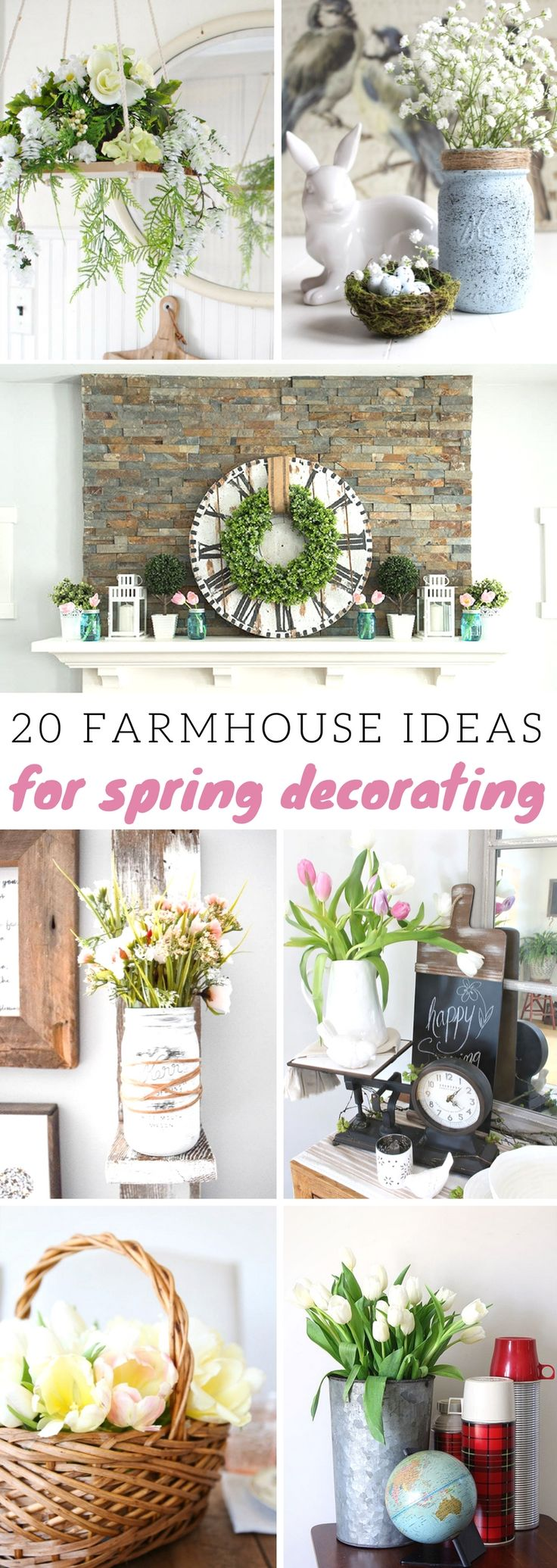 Farmhouse Ideas for Spring Decorating fixerupper farmhouse