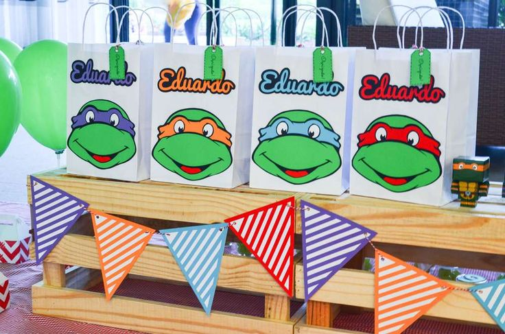 TMNT birthday party! See more party ideas at CatchMyParty.com!
