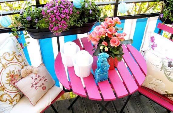 Ideas fabulosas para terrazas pequeñas - http://www.decoora.com/ideas-fabulosas-para-terrazas-pequenas.html