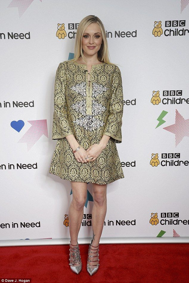 Lovely look: It was back to work for presenter Fearne Cotton, 34, on Friday evening, as sh...