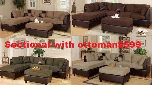 Sectional with Ottoman Starting as $399-We have many different models and styles that will work for any budget.  We also specialize in package deals if your looking to furnish a new place.