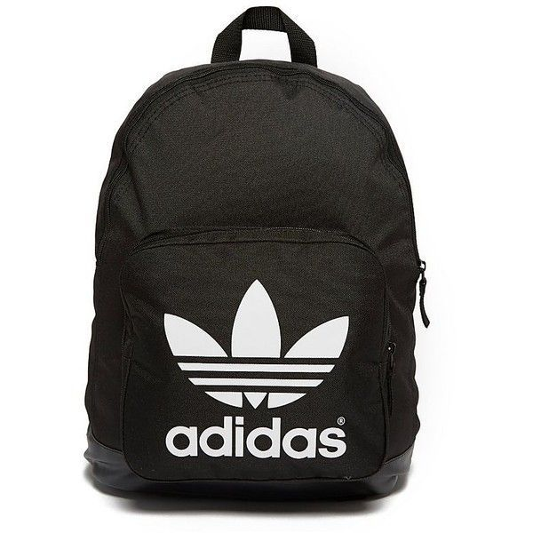 adidas Originals Sport Backpack (120 QAR) ❤ liked on Polyvore featuring bags, backpacks, black and white bag, sports backpack, backpacks bags, retro backpack and handle bag