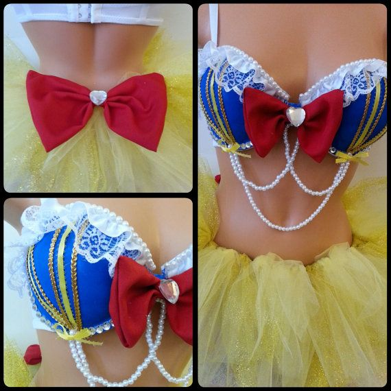inspired snow white rave OUTFIT by LaEDMdesigns on Etsy, $115.00