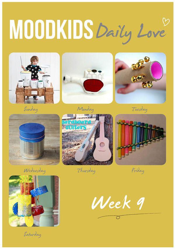 #diy #music #kids  Week 9 : Music Maestro !  Make your own music instruments DIY on moodkids.nl