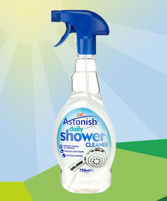 The Astonish Daily Shower Cleaner Has Been Specially Formulated To Keep  Your Shower Sparkling Clean.