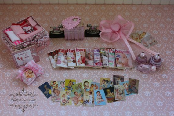 Dollhouse miniature set for baby girl  IT'S by Lilliputstreasures