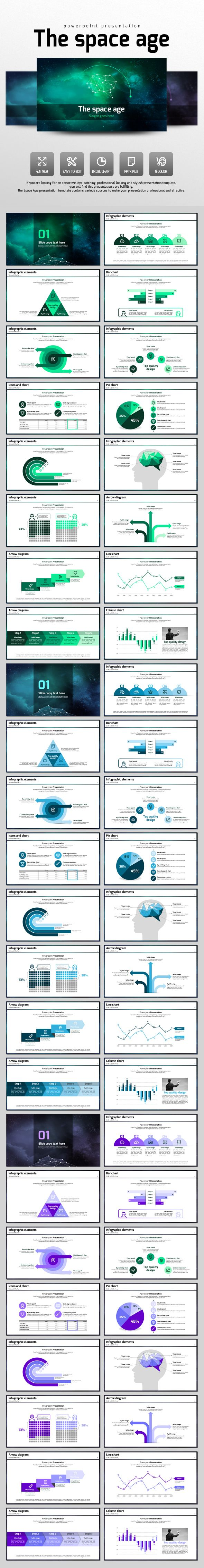 The Space Age PowerPoint Template #design #slides Download: http://graphicriver.net/item/the-space-age/13166450?ref=ksioks