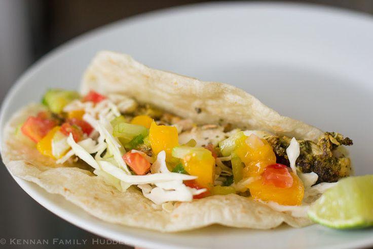 Grilled Snapper Fish Tacos | Cuisine | Pinterest