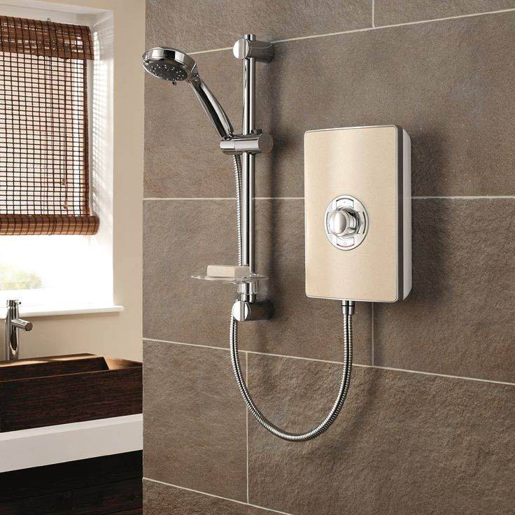 Miniatures Effect 9.5kW Electric Shower with Riser Kit | Wayfair UK