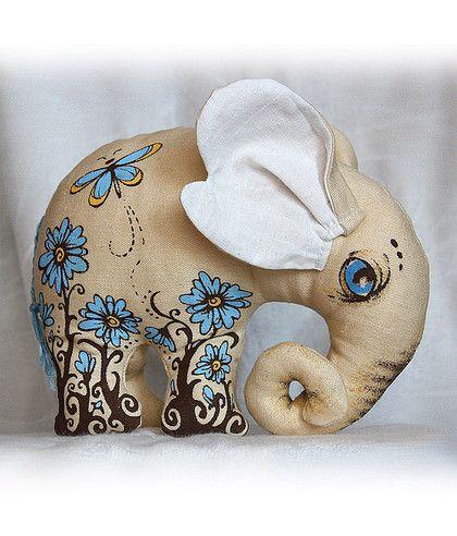Куклы Тильды ручной работы. Ярмарка Мастеров - ручная работа Слон в цветах. Handmade.