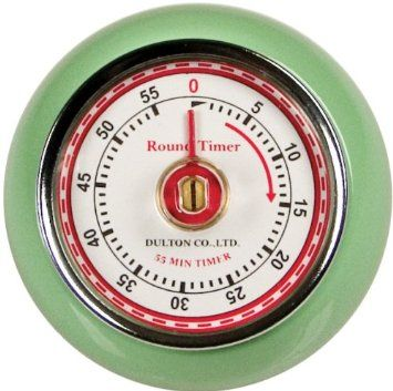 Amazon.com: Fox Run Retro Kitchen Timer with Magnet, Mint Green: Home & Kitchen
