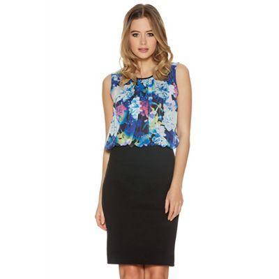 Quiz Multi Colour Floral Print Bubble Top Dress-   Debenhams