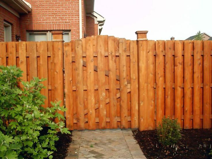 Wooden shadow box fences with gate exterior pinterest