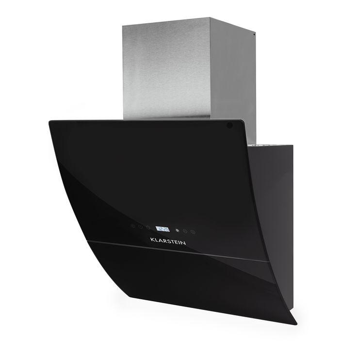 rgl60bl hotte aspirante 60cm 550m verre noir klarstein. Black Bedroom Furniture Sets. Home Design Ideas