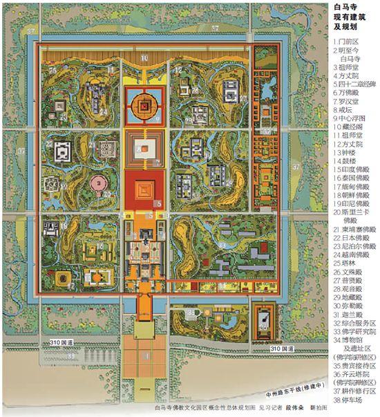 白马寺扩建规划方案详解 48.6亩古建区原貌保存_中国经济网——国家经济门户