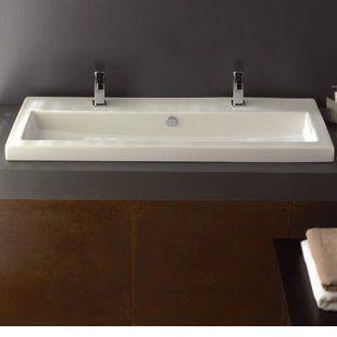 Native Trails, Inc. Trough Metal 48″ Trough Bathroom Sink