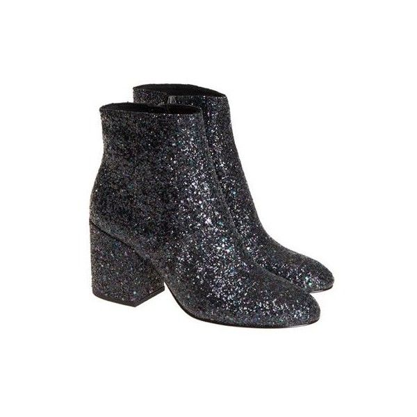 Ash Egoiste Ankle Boots (£168) ❤ liked on Polyvore featuring shoes, boots, ankle booties, blue ankle boots, glitter ankle booties, side zipper boots, glitter boots and ash boots