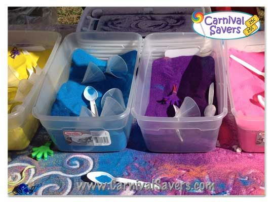 Sand Art Carnival Booth | Supplies - Colored Sand, Sand Bottles and More!