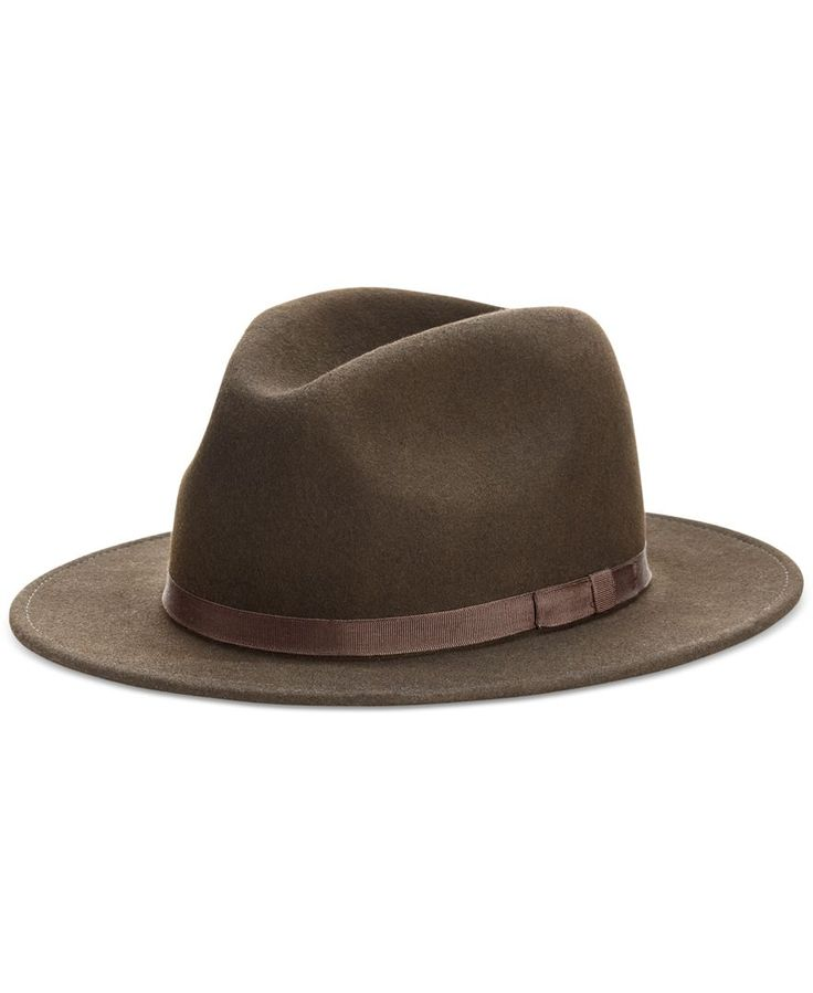 Go classic with Country Gentlman's wool fedora. | Wool | Hand clean | Made in USA | Country Gentleman men's hat | Band above brim | Fedora style | Web ID:995170