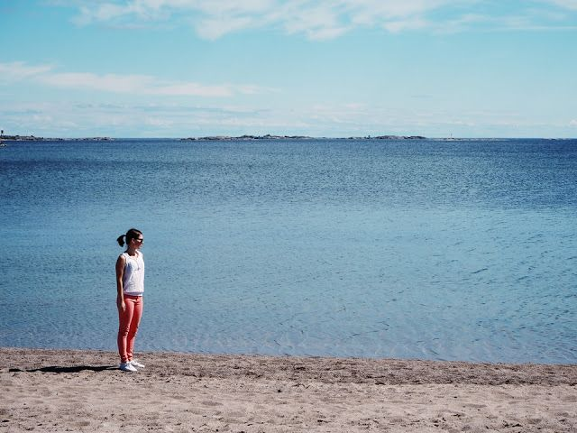 Beach and the sea in Hanko
