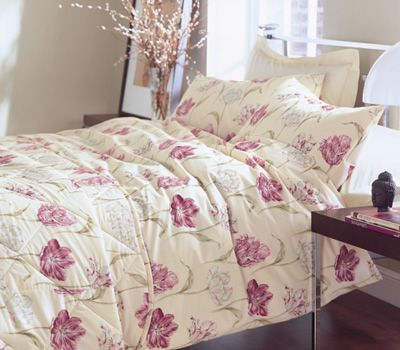 Sanderson Bloom Aubergine - JustLinen  This is my favourite of all my bed linen