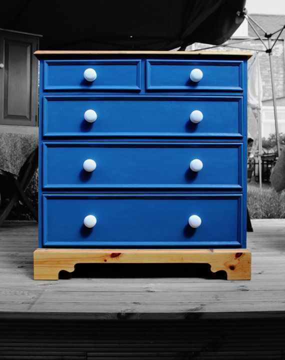 Solid Pine Chest of Drawers - Upcycled/Furniture Art - Made to order