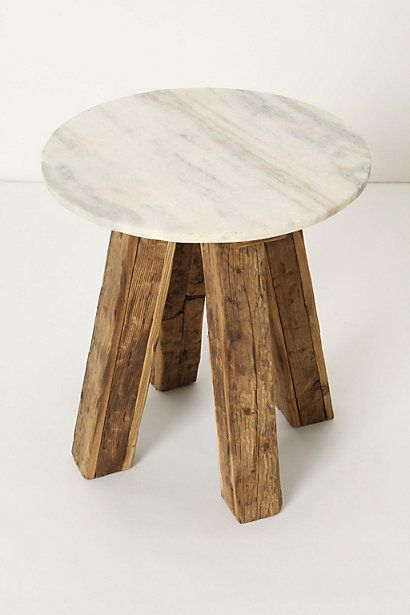 How hot is this with its marble top? The perfect mix of rustic glam