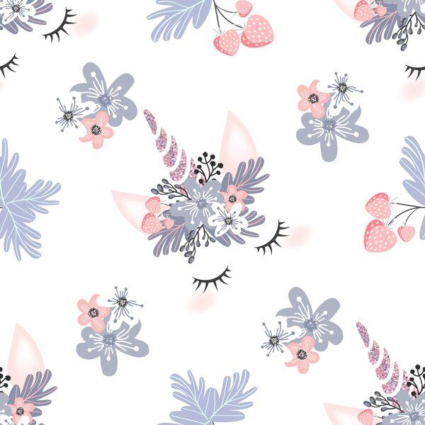Vibbert Cute Unicorn Head 10 L X 24 W Peel And Stick Wallpaper Roll In 2021 Pink Unicorn Wallpaper Unicorn Wallpaper Cute Wallpapers