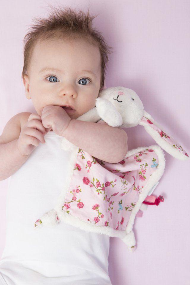 TIAMO Zajíček muchláček bílá-růžová | Kašpárek Baby