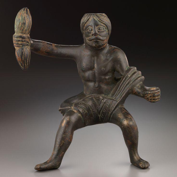 Bronze Statuette Representing the Gallo-Roman God Taranis Culture : Celtic, Roman Period : 2nd-3rd century A.D. Material : Bronze Dimensions : H: 12.7 cm