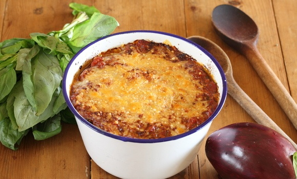Eggplant baked in chilli and tomato sugo - Maggie Beer