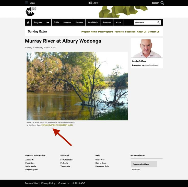ABC Radio National - Murray River at Albury Wodonga