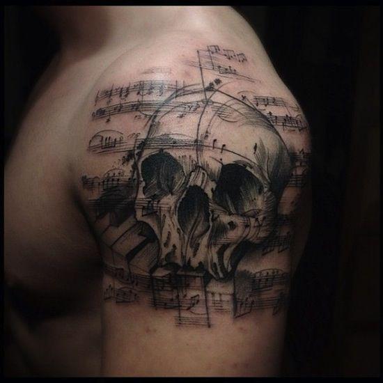 45 best sugar skull tattoo designs music images on pinterest design tattoos skull tattoo. Black Bedroom Furniture Sets. Home Design Ideas